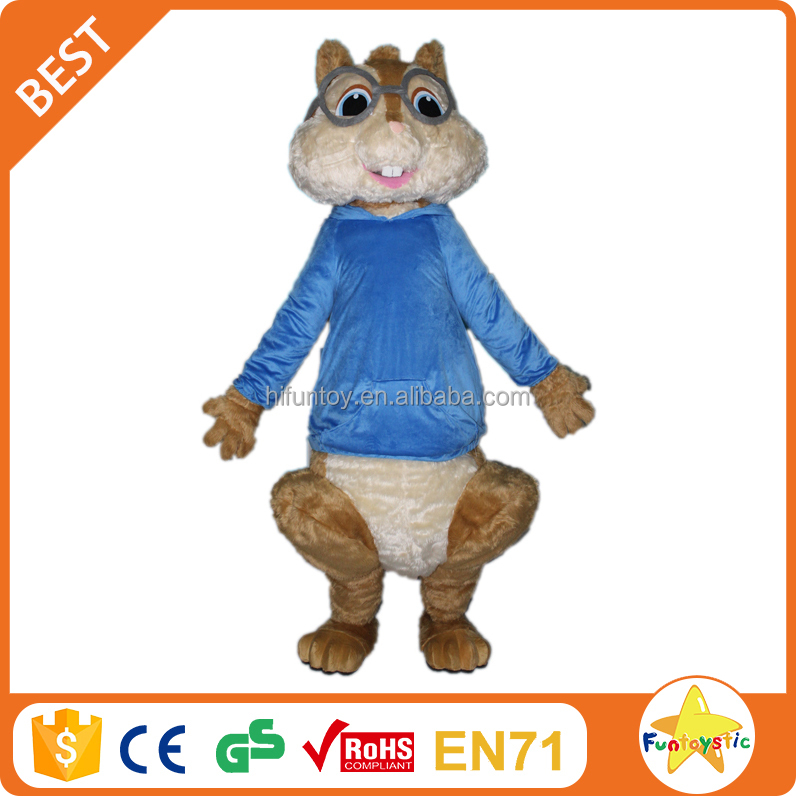 Funtoys CE alvin chipmunks mascot costume commercial