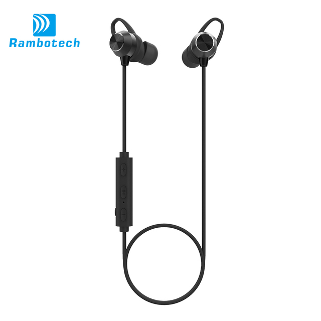 Magnetic Metal Bluetooth V4.1 Wireless Earphone Bluetooth ear muff Headphone Wireless For Sport RM8