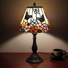 tiffany animal style table lamp with butterfly design shades by handmade