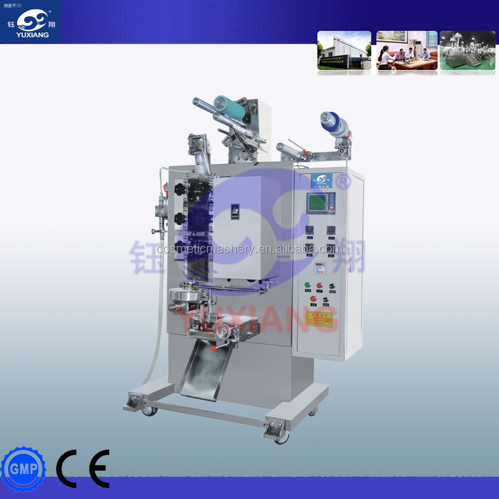 Automatic three side sachet cream bag filling packing machine