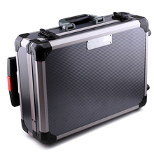 OEM Grooming Tool Equipment Carrying Reinforce Aluminum Briefcase Hard Case with Trolley