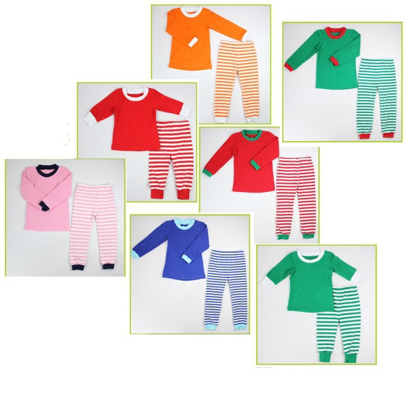 2017 latest design Boutique children's pajamas wholesale baby girl cotton Christmas Pajamas Sleepwear with SGS certificate