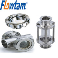 stainless steel glass tube sight glass