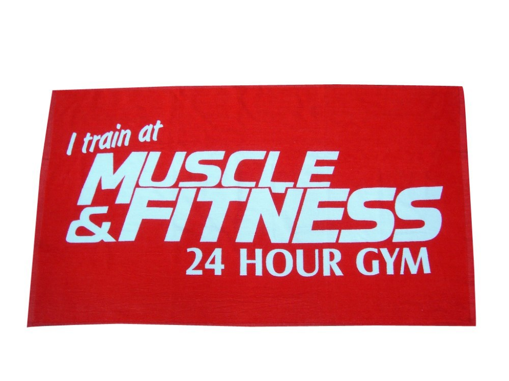 Custom Printed 100% Cotton Sports Towel Gym Towel Fitness Towel