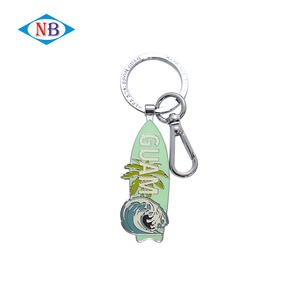 Fashion cute shaped custom metal plating keychain