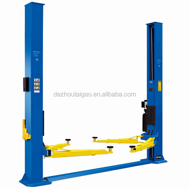 4T dual points manual release hydraulic 2 post car lift