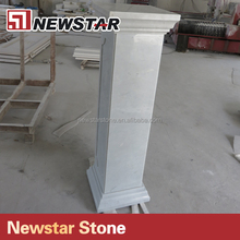 Absoute white marble baluster railings