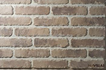 100% Hand Made Clay Brick Veneer for villa decoration