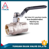 Have a two-way internal thread handle is black body surface is nickel an inch long stainless steel ball valve