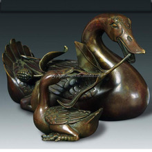 Life Size Bronze Swan Animal Statue Sculpture for Sale