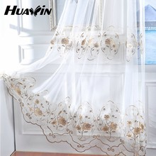 Hot China Products Wholesale curtain fabric flower embroidery tulle fabric
