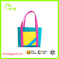 Colorful lady nylon printing shopping shoulder bags