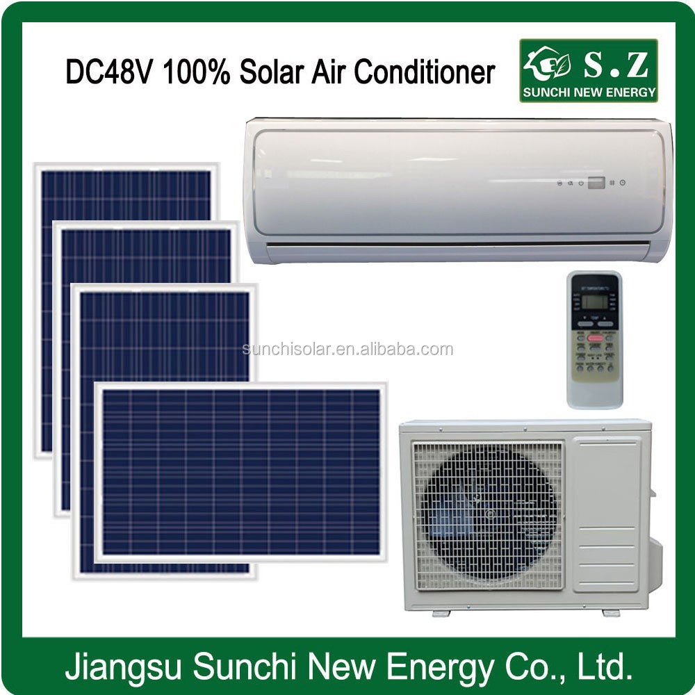 DC48V 12000BTU 18000BTU 100% home wall variable solar auto air conditioning in hvac system