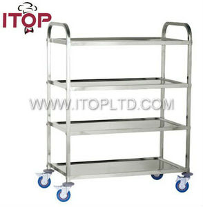 stainless steel square tube wine trolley