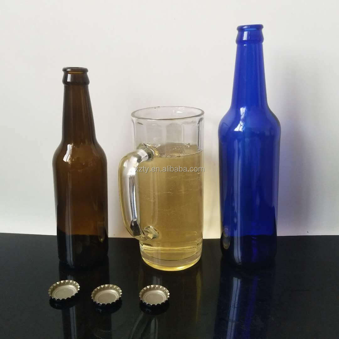 330ml 500ml soda water/beer use food grade glass bottle
