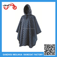 OEM Womens Bicycle Motorcycle Scooter Waterproof Rain Poncho with Hood