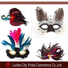 Beautiful peacock mask flower CZ diamond edge Add eyeliner fancy ball mask hallowmas decorations gift dress up perform mask