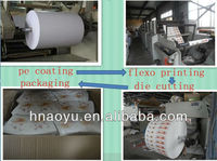 two side PE coated paper cup paper/paper cup raw materials with no priting and die-cutting