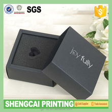 matte black paper foldable boxes with foam insert