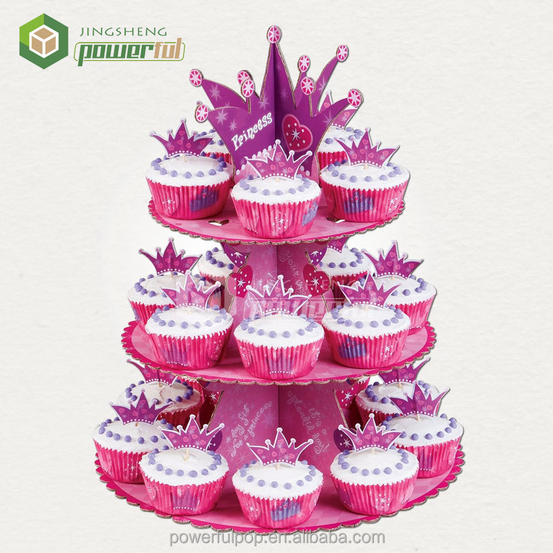 3 tier paper cupcake stand