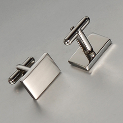 Wollt anniversary gift simple stainless steel cufflink for man