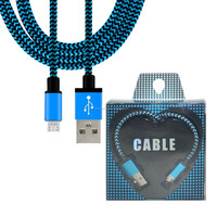 1M,2M,3M USB Charger Cable Fabric Nylon Braided Nylon Usb Cable Cord for iPhone 5 5C 5S 6 6S 6PLUS