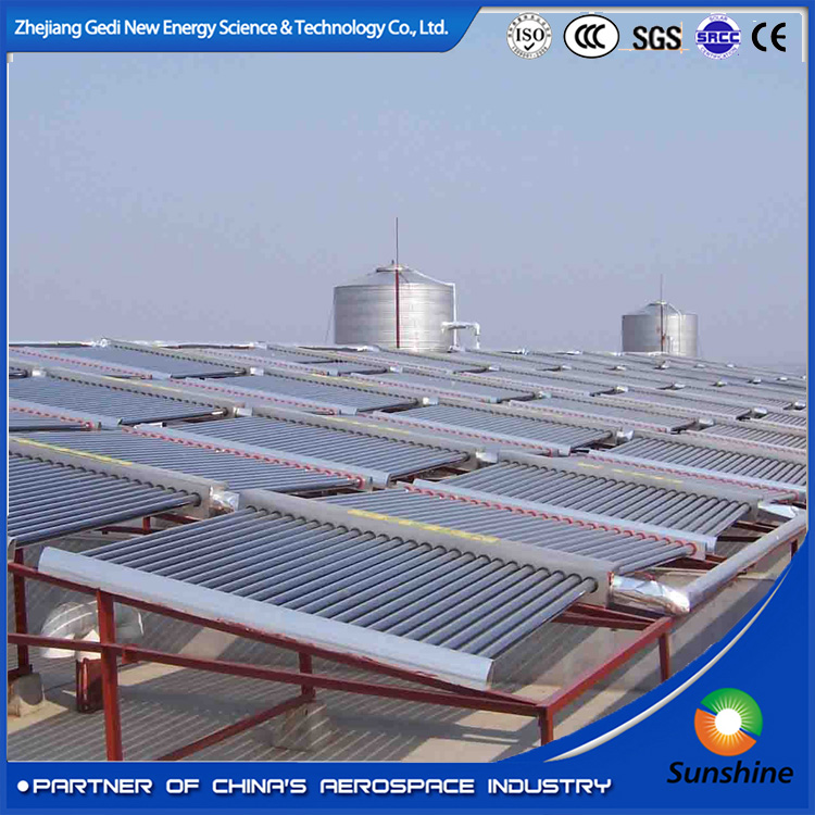 solar energy Project Use Vacuum Tube Solar manifold Collector for Swimming Pool or Hotel