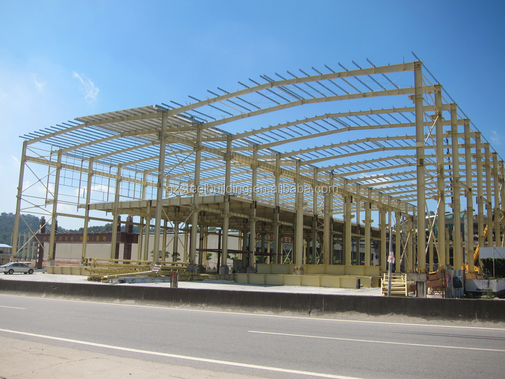 low price pre-engineered light frame ware house steel structure in ghana