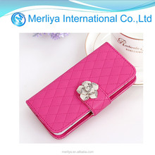 pink color leather case for iphone 5C
