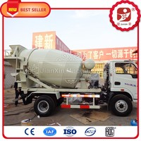 3 cubic meters small concrete mixer truck for sale