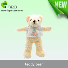 Factory direct sale New design plush toy bear wear sublimation blANK T-SHIRT