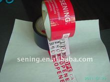 custom warning tape seal/warranty void tape