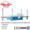 9 spindles 45degree aries glass edging polishing machine BZM9.325