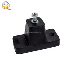 Great Air Conditioner Rubber Mount Black Round Bush Square Rubber Buffer With Hole