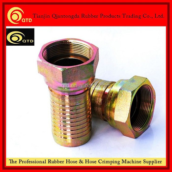 China Rubber hose end fittings /hose crimping fittings
