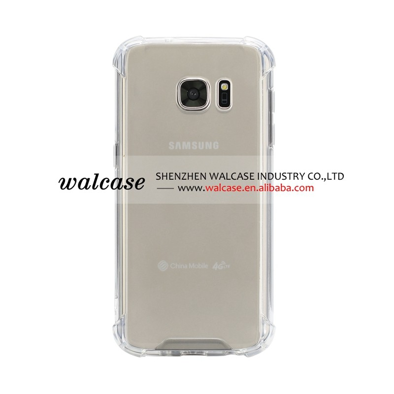 Shockproof Transparent TPU Cellphone cover case for Samsung galaxy s7 case