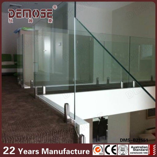 movable tempered glass interior glass railing