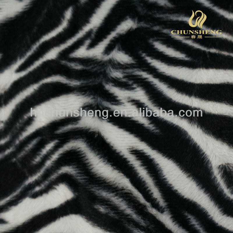 Polyester Brushed Soft Velboa Fabric with Leopard Pattern for Bedding Garment Sofa Toy Car