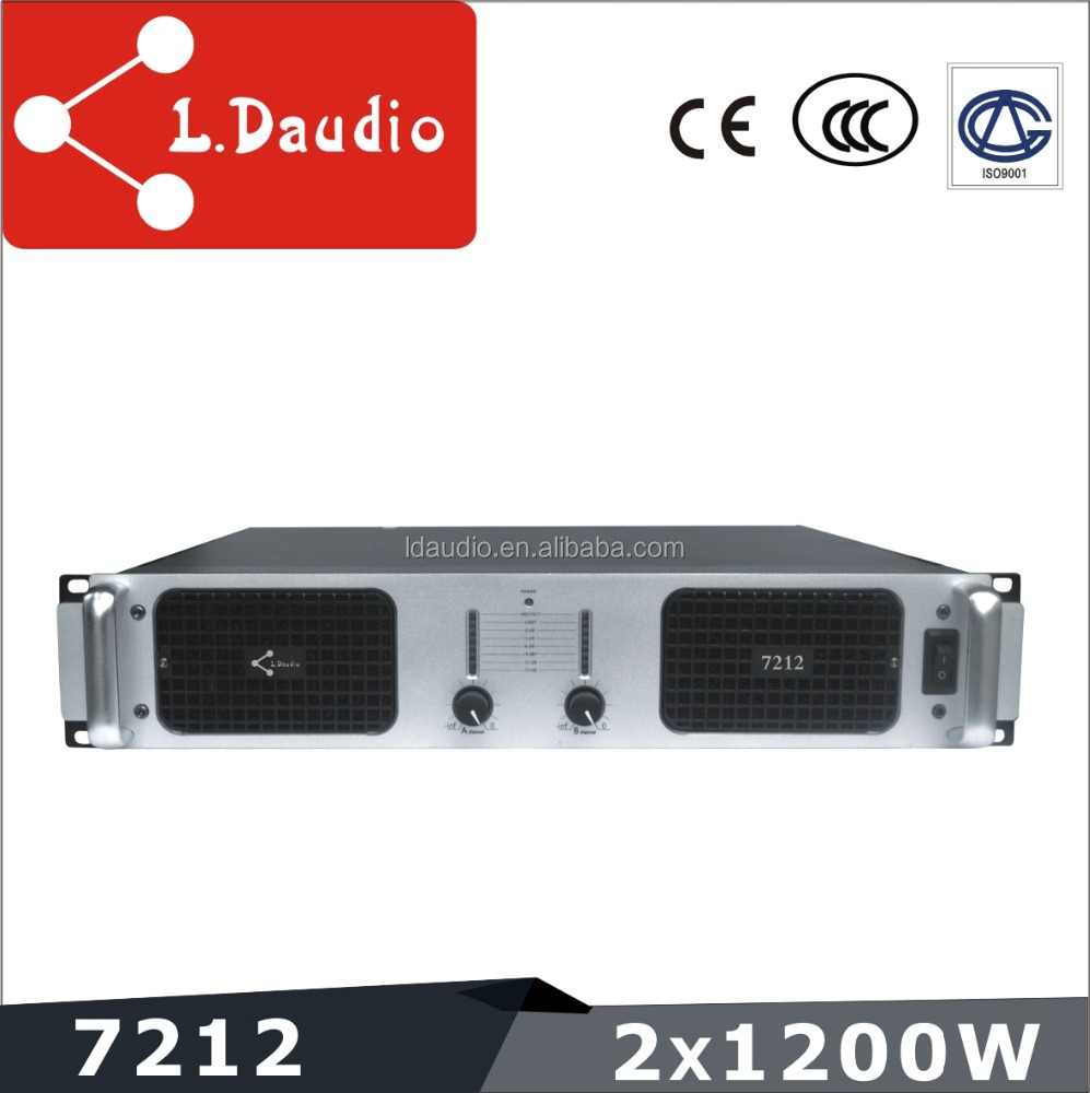 2 channel 1200w professional power amplifier component