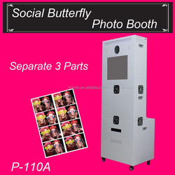 "Most Popular Photo Booth Kiosk 19"" Touch Screen & Hiti Theramal Photo Printer For Party"