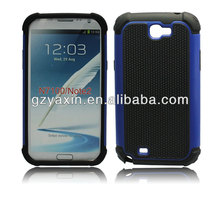 Hybrid silicone hot selling case for samsung galaxy note 2 n7100,funky mobile phone case for samsung galaxy note 2
