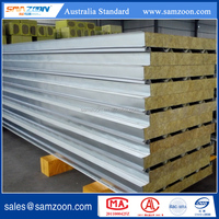 Rock Wool Sandwich Panel Insulated Metal faced for roof board