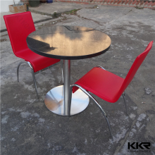 Kingkonree solid surface hideaway dining table and chair set
