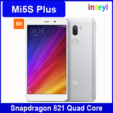 Original Xiaomi Mi5S Plus 6GB RAM 128GB ROM Cell Phone Mi 5S Plus Snapdragon 821 Quad Core 5.7inch Dual 13.0MP Fingerprint ID