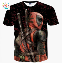 New Fashion 2017 Summer Casual Tops Tee Shirts 3d Anime Print Pokemon Deadpool T Shirt Funny Graphic T-shirts