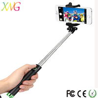 2018 Hot Selling Monopod Pole Self-portrait Selfie Stick In Tripod For Galaxy Iphone Shutter