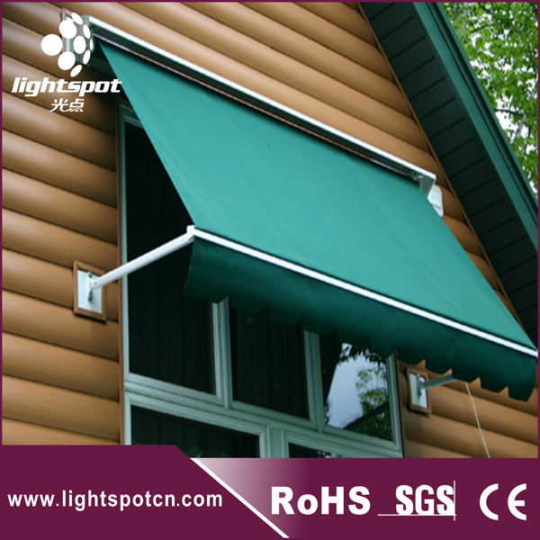 Small window full cassette folding arm awning