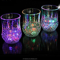 High quality strong colorful box packing crazy selling led light drinking glass