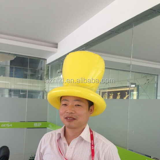 custom design inflatable top hat for party