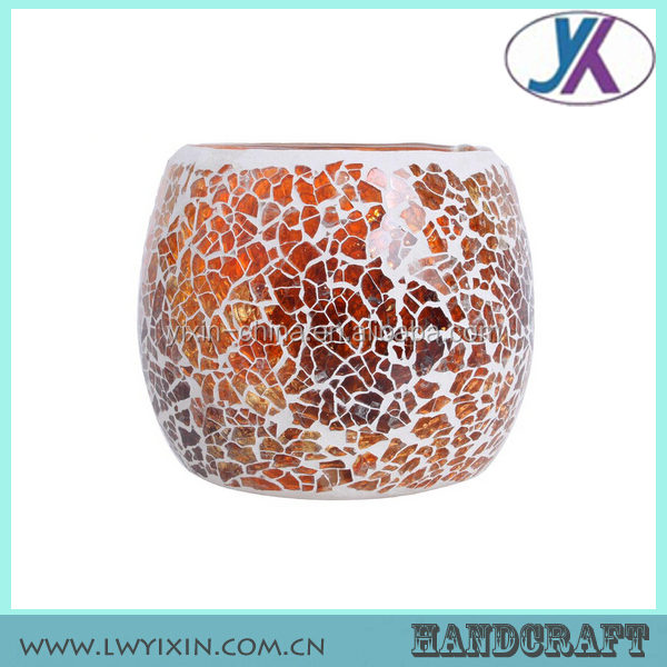 Decorative home goods mosaic glass antique circle of friends candle holder
